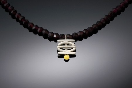 Garden Gate on Garnets Necklace