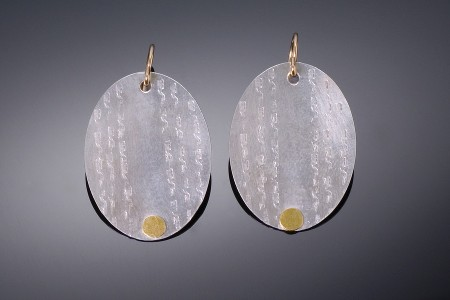 Large Textured Discs Earrings
