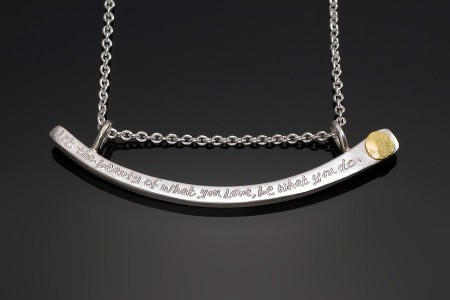 Rumi Quote Necklace