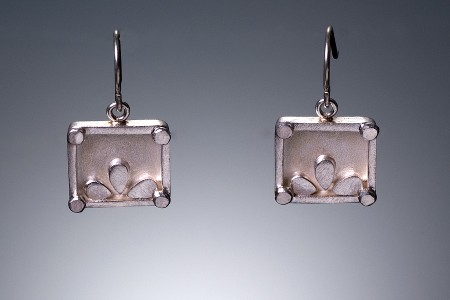 Square Lotus Earrings