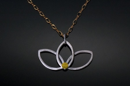 New-Lotus-Necklace-with-gold-chain